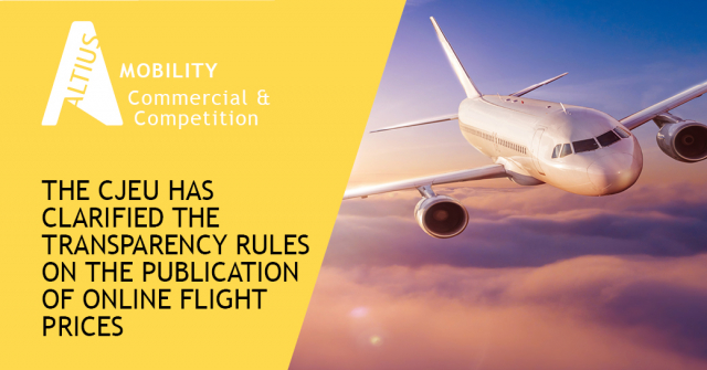 The CJEU has clarified the transparency rules on the publication of online flight prices