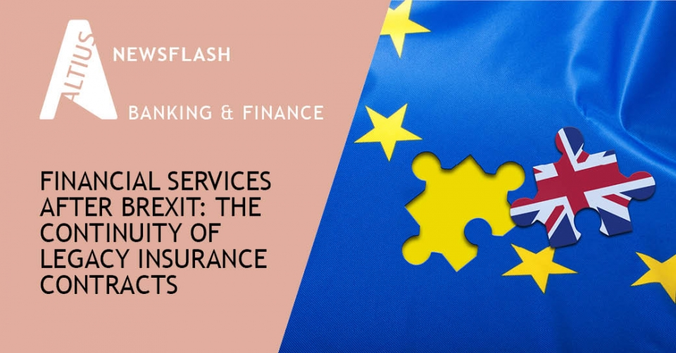 Financial services after Brexit: The continuity of legacy insurance contracts