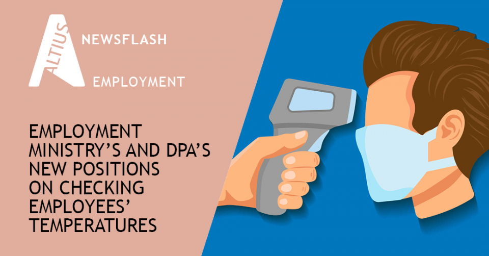 Employment Ministry's and DPA's new positions on checking employees' temperatures
