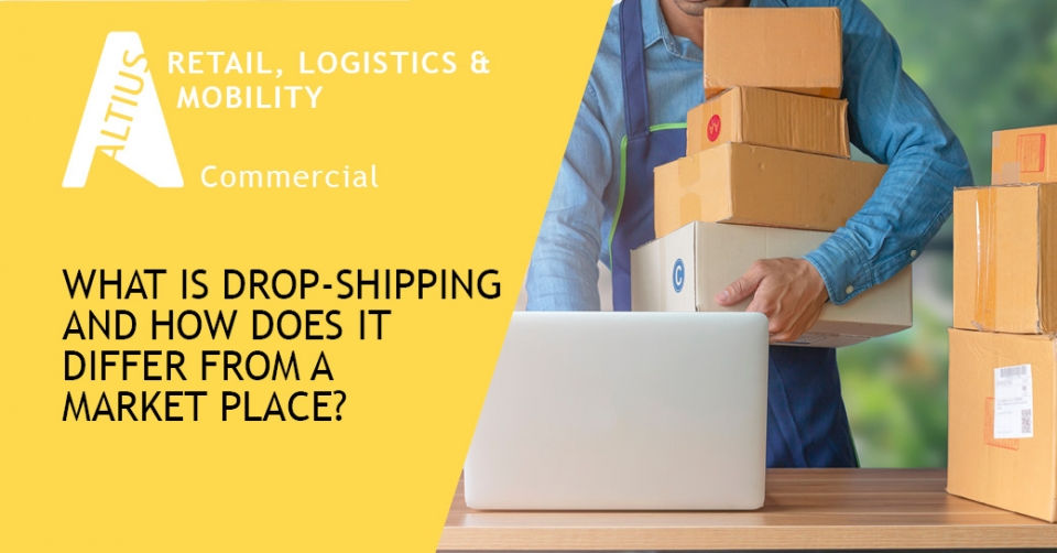 What is drop-shipping and how does it differ from a market place?